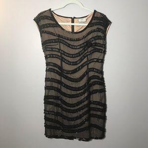 A.J. Bari Women's Sequin Silk Dress Retro SIZE 8